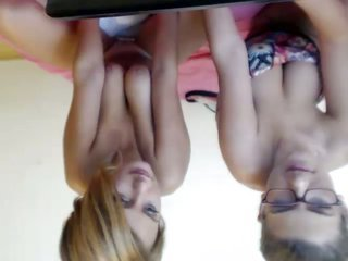 2 stunning online cam MILFs were proudly demonstrating huge saggy titties